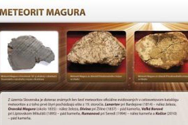 Návrh tabule s informáciami o najvýznamnejšom slovenskom meteorite.
