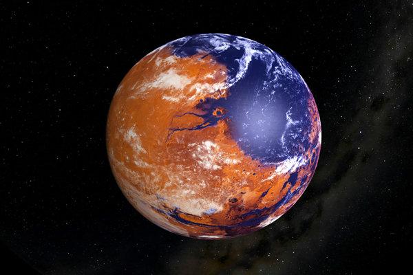 Mars mal pred miliardami rokov vodné oceány.
