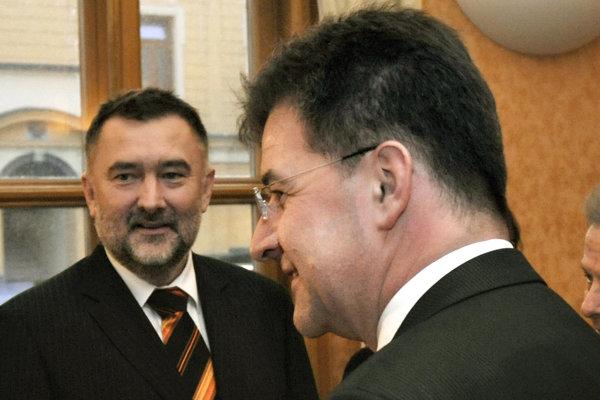 Boris Gandel spolu s ministrom zahraničia Miroslavom Lajčákom.