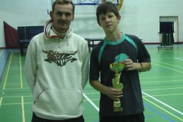 Andrej Kaššay s trénerom Daliborom Jahodom.