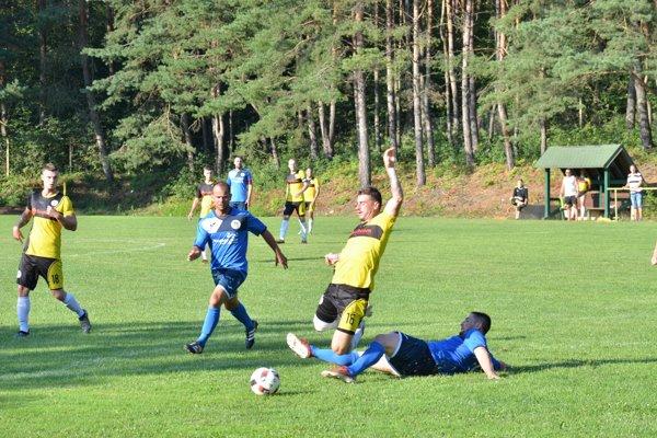 Situácia pred penaltou.