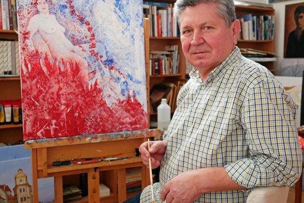Andrej Smolák starší sa venuje najmä maľovaniu.