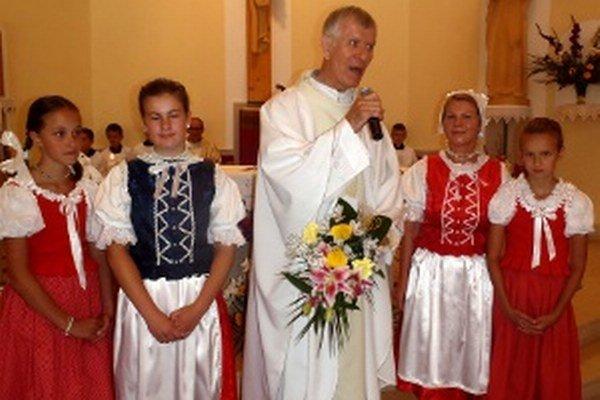 Salezián Juraj Kyseľ vo farnosti, kde pôsobil takmer dvadsať rokov.