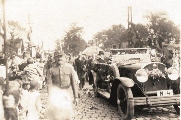 Prezident T. G. Masaryk na návšteve v Prievidzi v roku 1923.