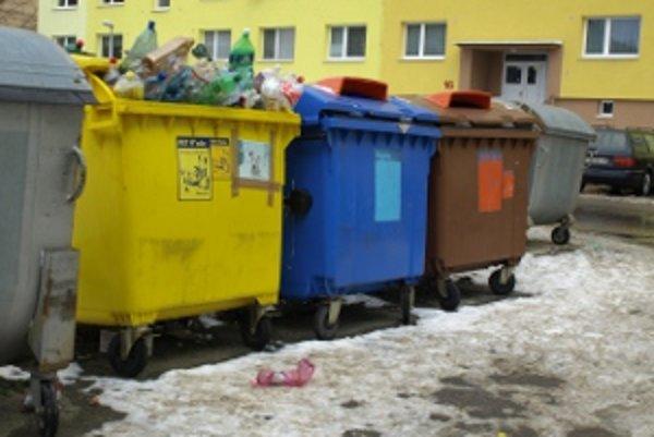 Počas sviatkov domový odpad neraz skončil na verejnom priestranstve.