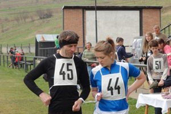 Štefan Michaliga spoločne s dcérou pred štartom pretekov.