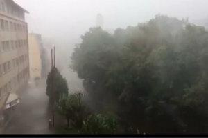 Návaly dažďa v Poprade.