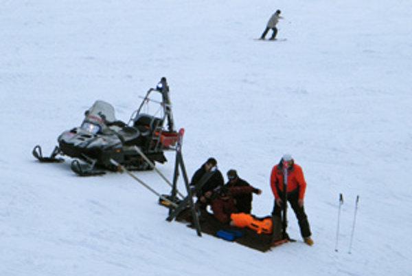 Horskí záchranári mali čo robiť celý týždeň. V stredu uprostred svahu si päťdesiatročný lyžiar z Košolnej poranil koleno.