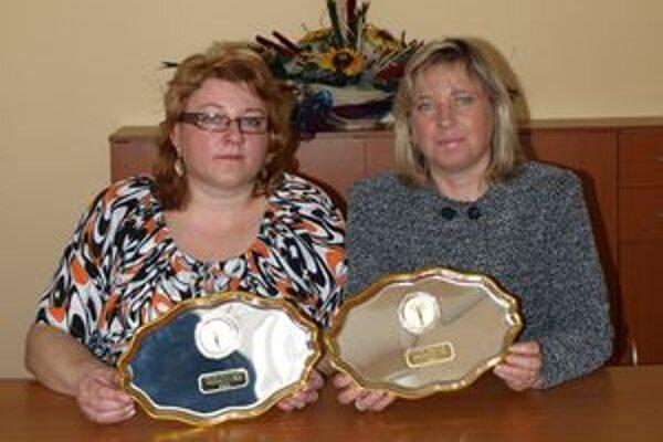 Ocenené pracovníčky Domova sociálnych služieb v Tvrdošíne.