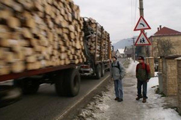 Dennodenne putujú desiatky kamiónov s drevom do Poľska.