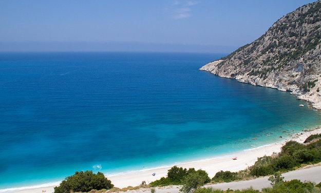Pláž Myrtos, Kefalónia.