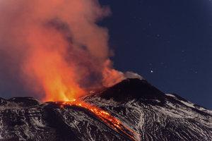 Sopka Etna.