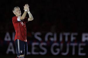Bastian Schweinsteiger sa exhibičným zápasom rozlúčil s Bayernom Mníchov.