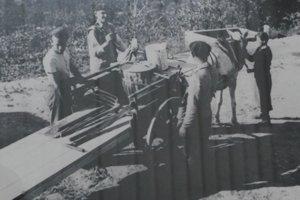 Židovskí mládenci pri práci na farme Vallon neďaleko Vence.