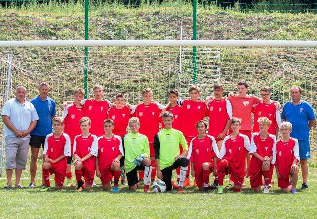 Starší žiaci U15 MFK Zvolen pod vedením trénera Peterkeho.