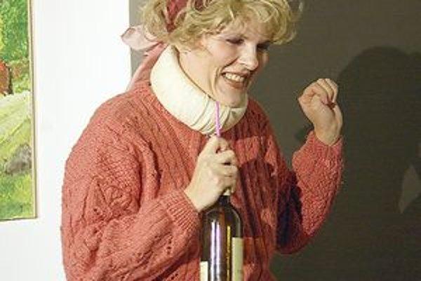 Ako Lillemor. Išlo o postavu osamelej alkoholičky v Kurze negatívneho myslenia, kde hrala spolu s ostatnými členmi divadla Napíšte si výpoveď.