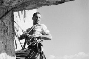 Tom Frost v roku 1962 pri prvom výstupe na El Capitan v Yosemite.