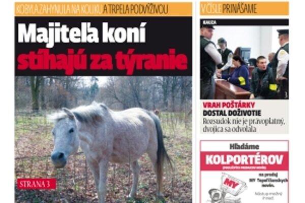 MY Topoľčianske noviny Dnešok kúpite v redakcii na námestí M. R. Štefánika len za 40 centov