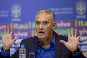 Tréner brazílskej reprezentácie Tite.