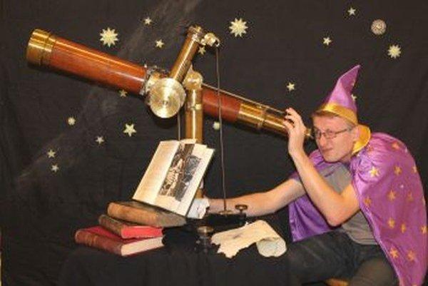Na Masarykovej univerzite prezentoval Miroslav detský astronomický kútik.