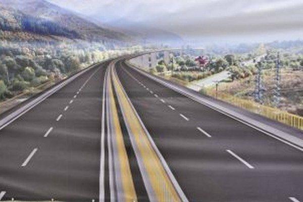 Takto by mala vyzerať trasa diaľnice v okolí Šútova.