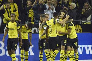 Dortmund oslavuje víťazstvo.