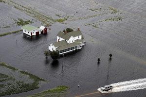 Hurikán Florence spôsobil rozsiahle záplavy.