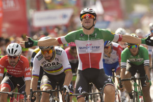 Elia Viviani vyhral poslednú etapu. Ilustračná fotografia.