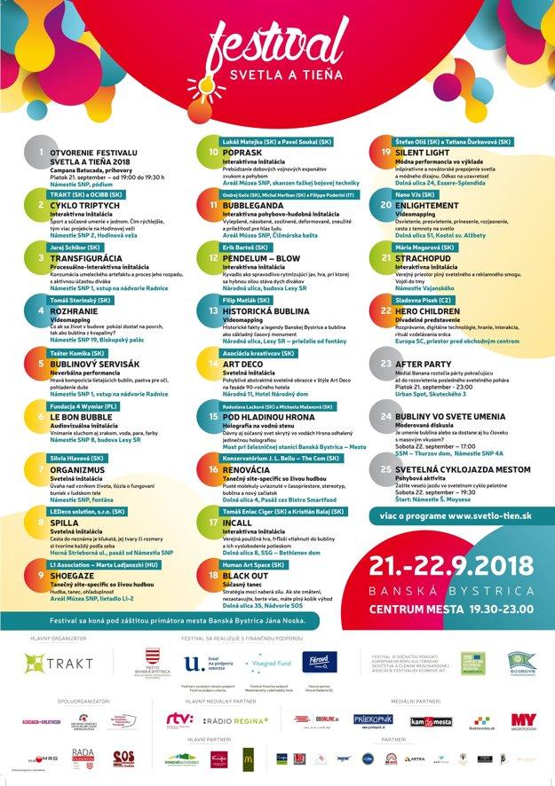 17c5b79c76e63 Festival svetla a tieňa sa začína v Banskej Bystrici už tento piatok ...