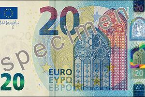 Nová bankovka v hodnote 20 € je v obehu od 25. novembra 2015.