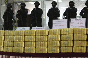 Polícia zhabala veľké množstvo drog.