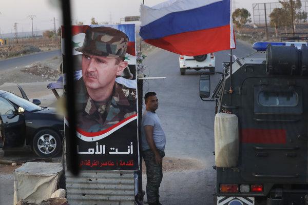 Ruská armáda je v Sýrii na pozvanie diktátora Asada.