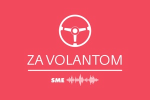 Podcast Za volantom, logo.