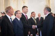 Prezident Andrej Kiska prijal predstaviteľov koaličných strán.