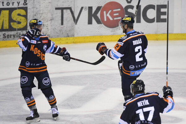Hokejisti Košíc na ilustračnej fotografii.