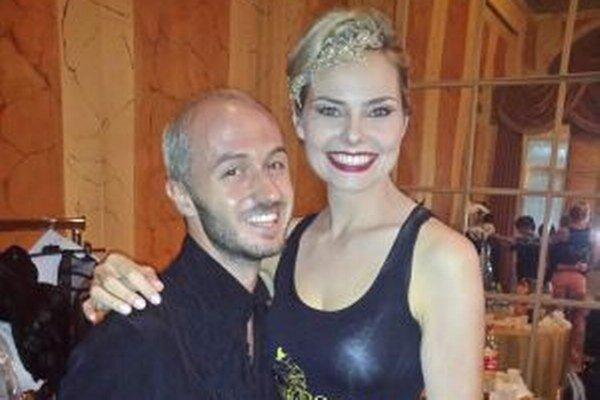 Linda a bulharský návrhár Ivan Donev.