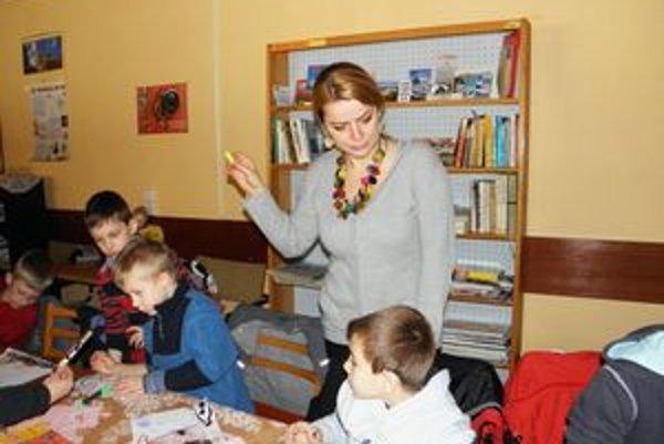 Deti v Knižnici Hany Zelinovej vo Vrútkach.
