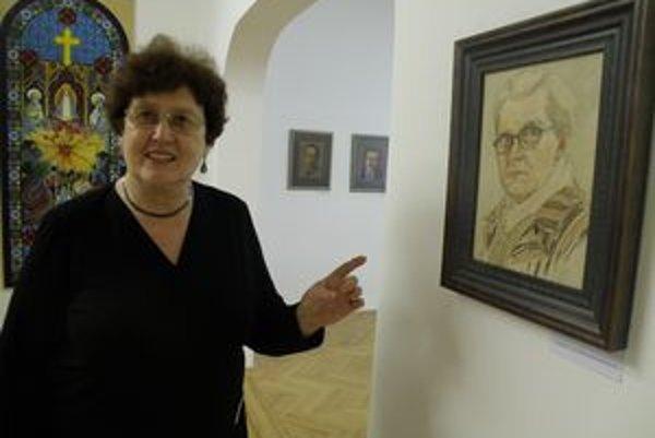 Autoportrét. Ten mala nevesta Cecília najradšej a ťažko sa s ním lúčila, keď ho pre Maticu slovenskú dávala Hronského neteri Márii Macuľovej(na snímke).