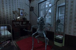 Šváb Gregor Samsa vo virtuálnej realite Miku Johnsona.