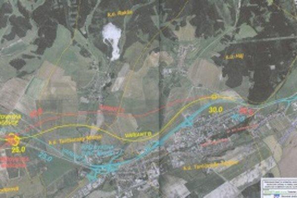 Tri trasy . Diaľnica môže viesť tromi cestami, o termíne samotnej výstavby cesty sa zatiaľ nerozhoduje.