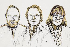 Laureáti Nobelovej ceny za fyziku. Zľava: Arthur Ashkin, Gérard Mourou a Donna Stricklandová.