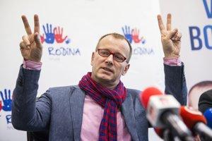 Boris Kollár a jeho politická strana SME RODINA.