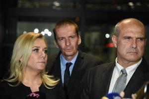Ministerka vnútra Denisa Saková a prezident Policajného zboru Milan Lučanský.