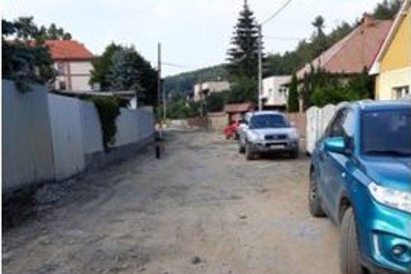 Ulica počas opráv.