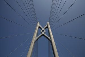 Pylón mosta medzi Hongkongom a Macaom.