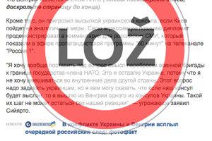 Výrok maďarského ministra si niektoré médiá prispôsobili