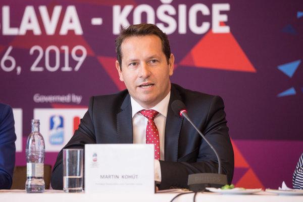 Prezident Slovenského zväzu ľadového hokeja Martin Kohút.