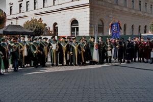 Zo slávnostného ceremoniálu v Komárne.