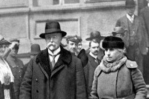 S manželkou Charlotte (Charlie) Garrigue Masarykovou.