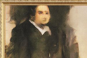 Edmond de Belamy, obraz, ktorý je dielom človeka aj počítača.